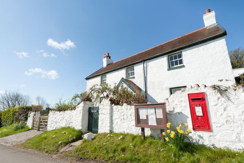 Cottage di vista della baia fotografia stock