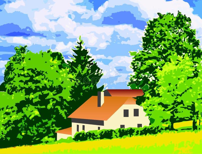 cottage en montagnes images libres de droits