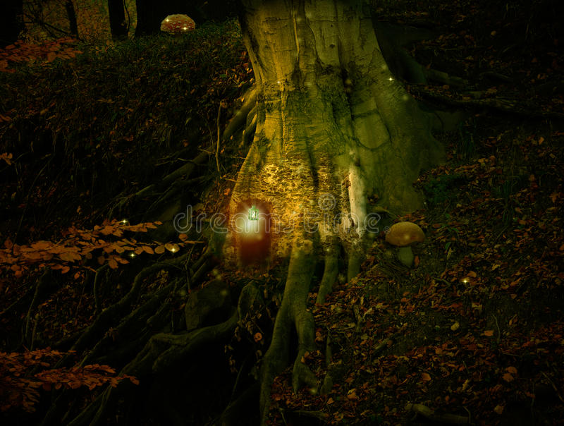 Cottage féerique dans la forêt photo libre de droits