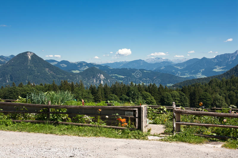 Download Cottage Garden In The Bavarian Alps Stock Photo - Image: 17920790