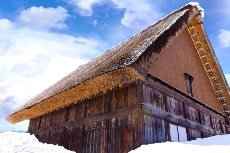 Cottage at Gassho-zukuri Village. Shirakawago, UNESCO world heritage site royalty free stock photos