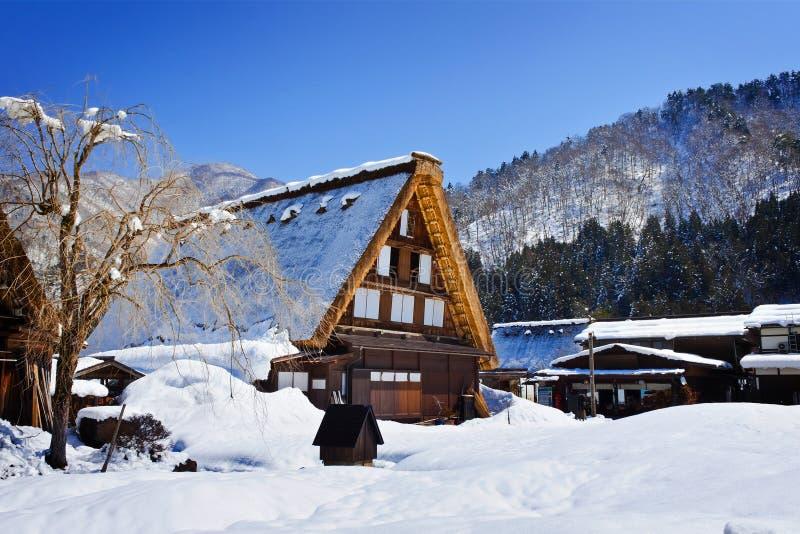 Cottage at Gassho-zukuri Village/Shirakawago royalty free stock photo