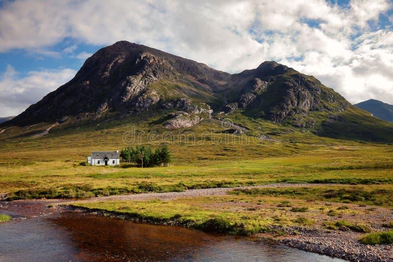 Cottage a Glencoe Scozia, Regno Unito fotografie stock