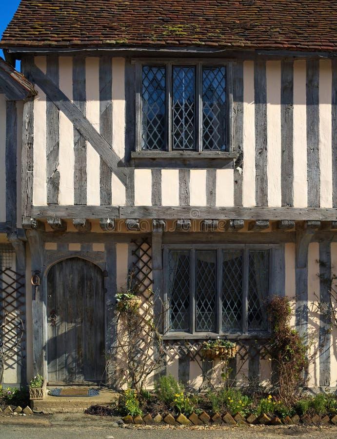 Cottage half-timbered antico fotografia stock