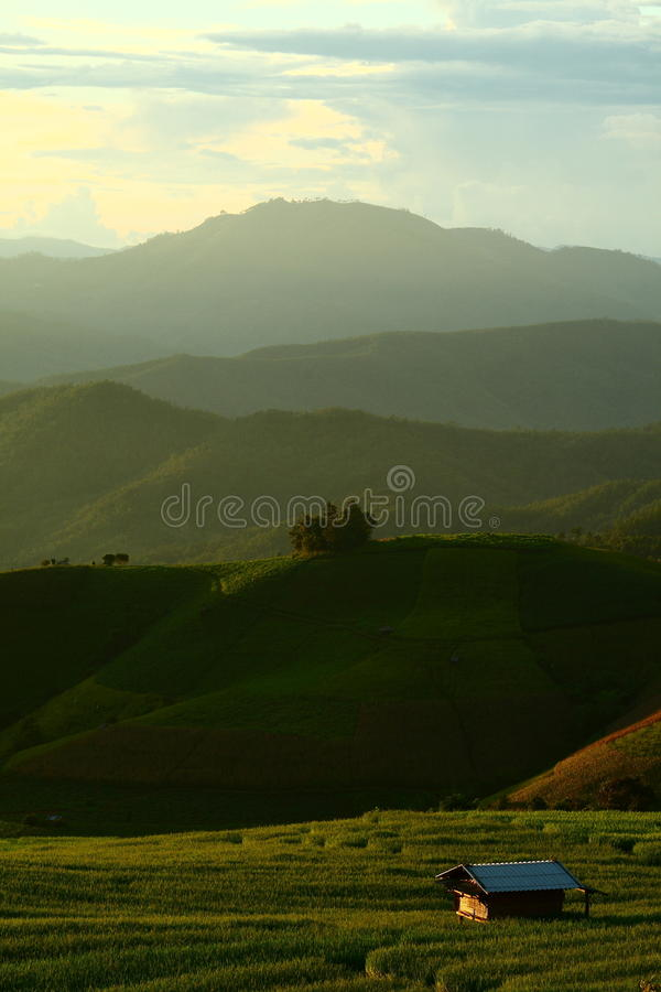 Download Cottage on the hill stock image. Image of farm, cloud - 24348539