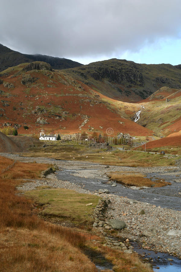 Download Cottage in the Hills. stock photo. Image of fells, rural - 14206388