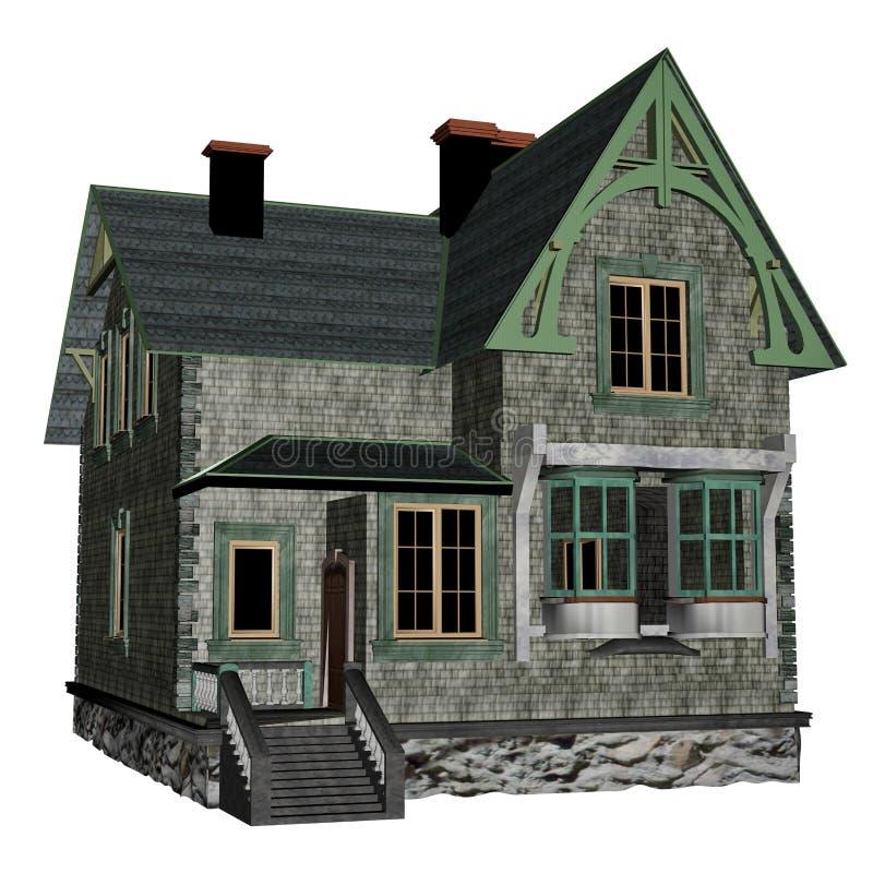 Cottage house stock illustration