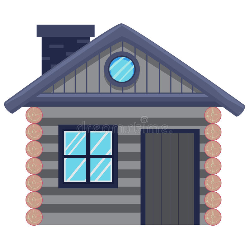 Cottage House. Vector Illustration of a Cottage House stock illustration