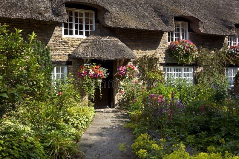 Cottage inglese del paese - Yorkshire - Inghilterra immagine stock libera da diritti