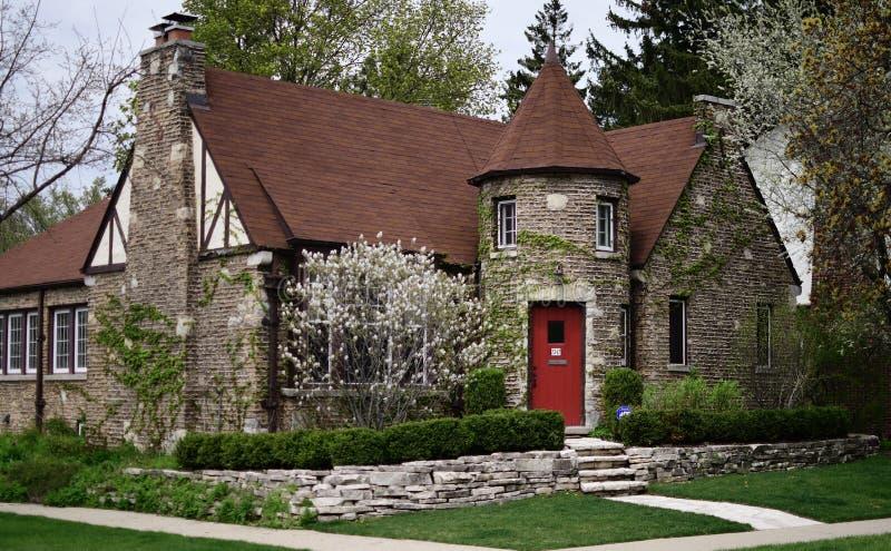 Cottage inglese in Evanston immagine stock