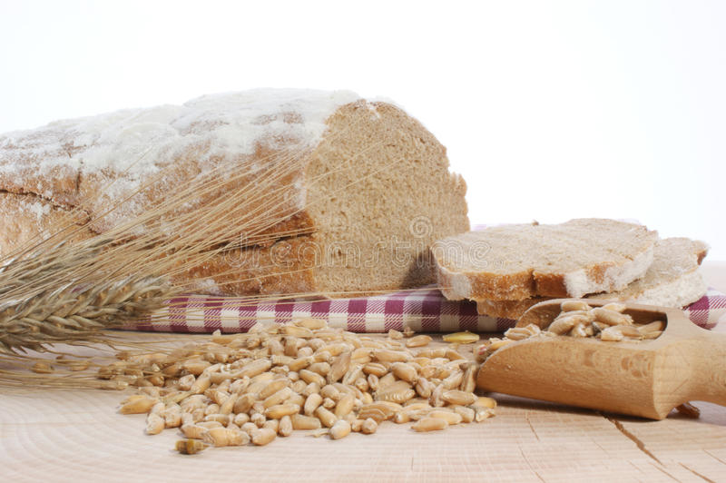 Download Cottage loaf and cereal stock photo. Image of organic - 10734464