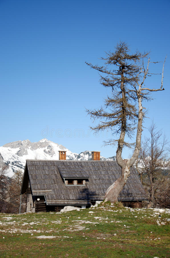 Download Cottage in mountains stock photo. Image of remote, nature - 26811732