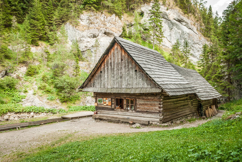 Download Cottage in the mountains stock photo. Image of peace - 33677440