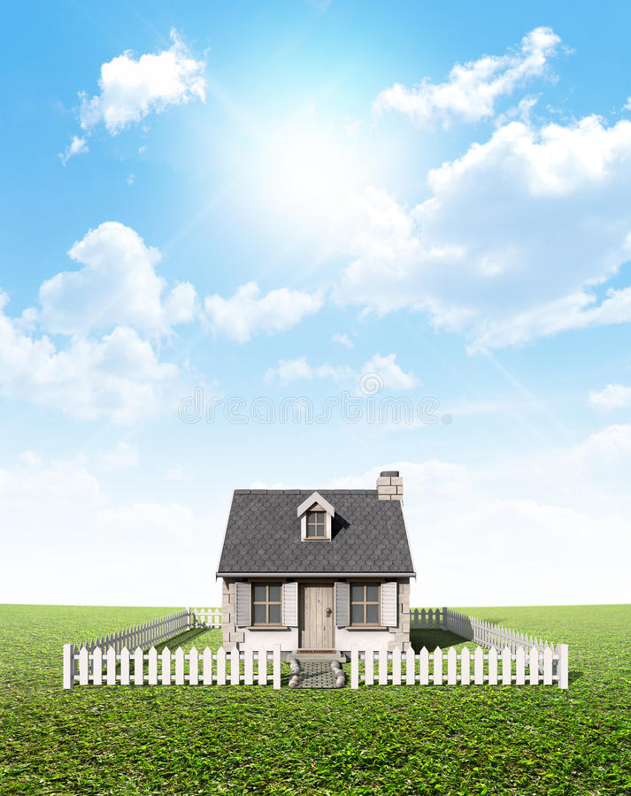 Free Cottage On Green Lawn Royalty Free Stock Images - 50707889