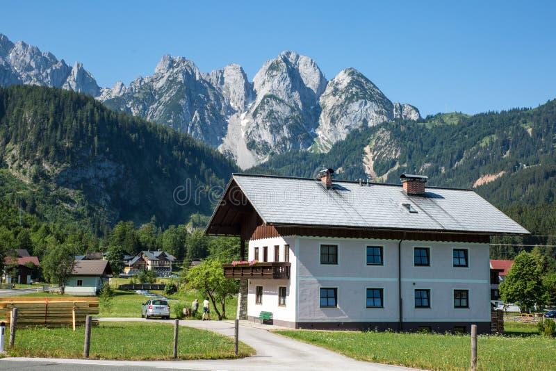 Cottage Rock Hallstadt Austria Forrest stock photography