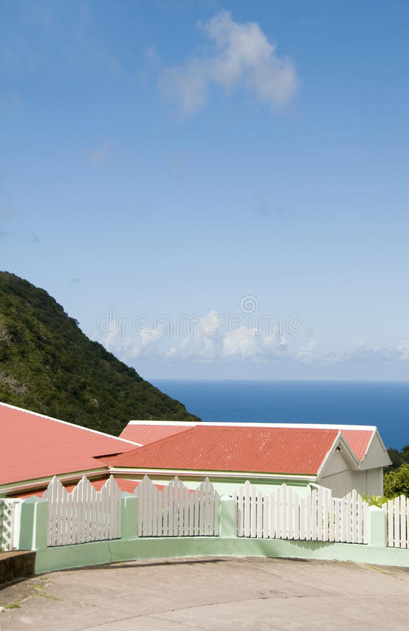 Cottage Saba Dutch Netherlands Antilles royalty free stock image
