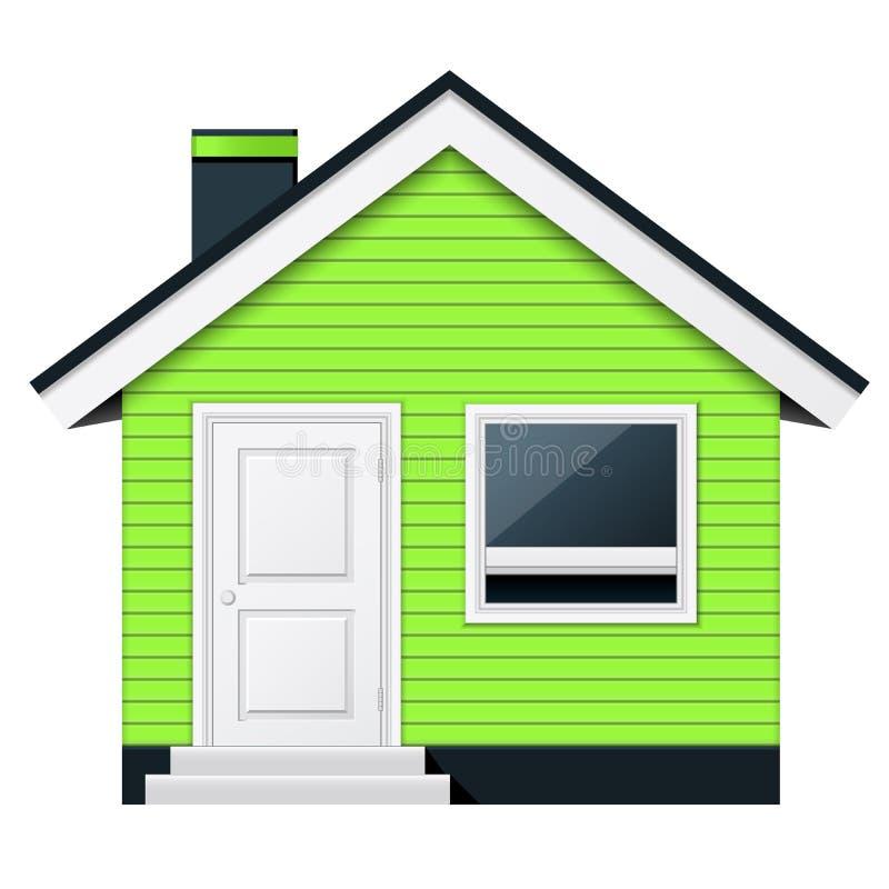 Cottage scandinavo - casa di campagna illustrazione di stock