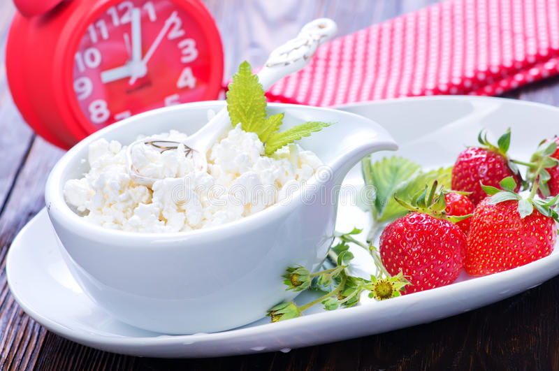 Cottage with strawberry stock image