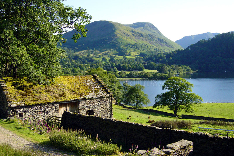 Cottage on Ullswater royalty free stock photography