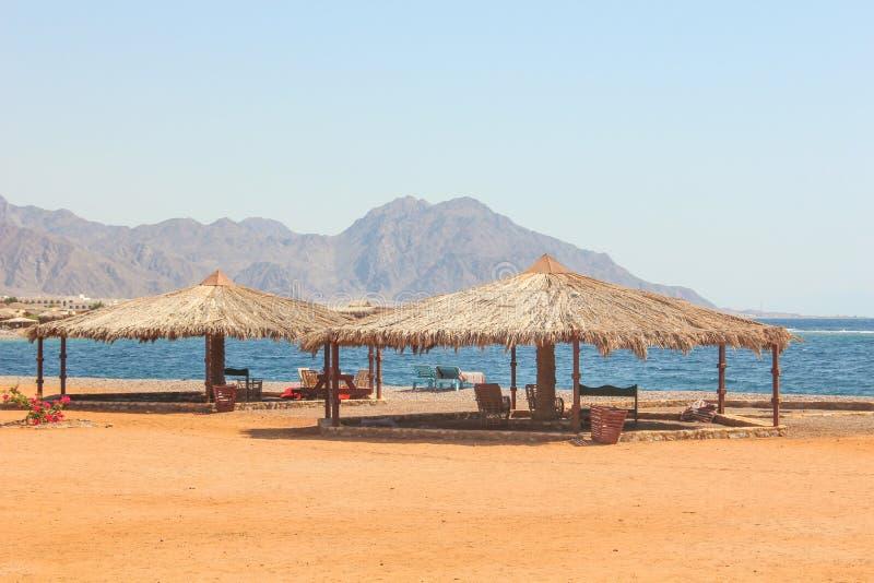 Cottage in un campo in Sinai fotografia stock libera da diritti