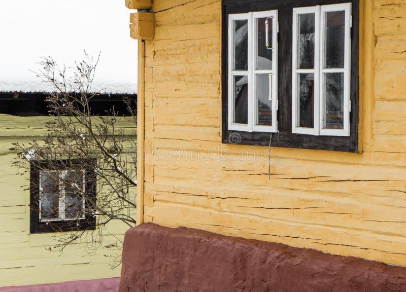 Cottage in village Vlkolinec, Slovakia royalty free stock photos