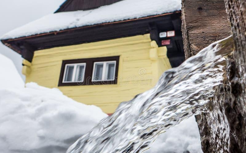 Cottage in village Vlkolinec, Slovakia royalty free stock photography