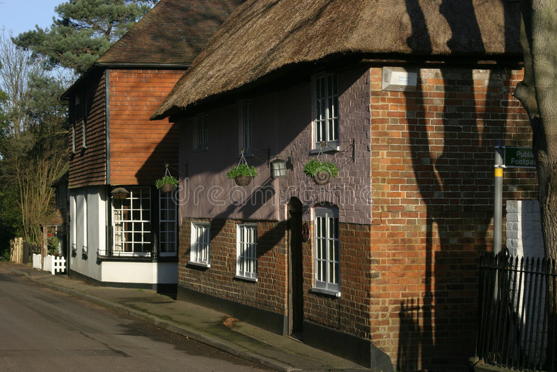 Download Cottage in winter stock photo. Image of retro, seasonal - 177590