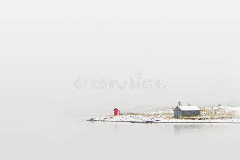 Download Cottage on winter coast stock photo. Image of fairy, landscape - 25145030