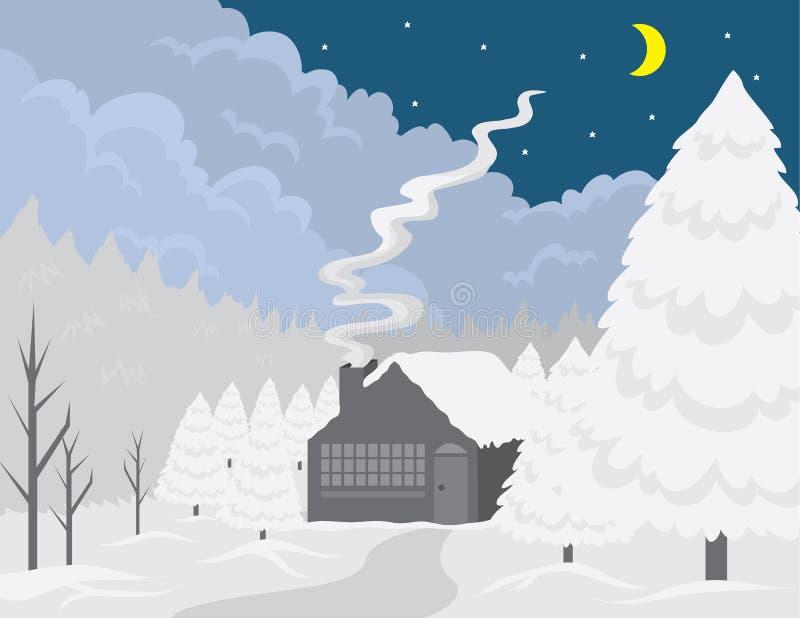 Download Cottage Winter Scene Stock Images - Image: 21512864
