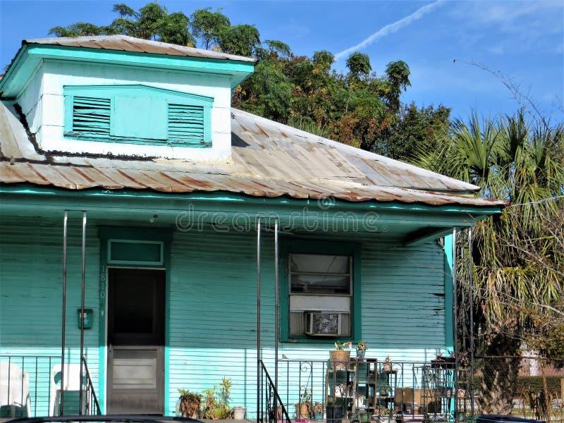 Cottage, Ybor City, Tampa stock photography