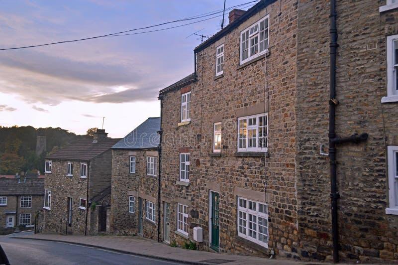 Cottages étranges en Richmond Yorkshire images libres de droits