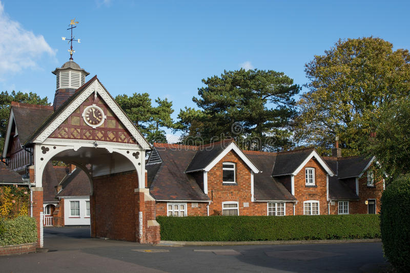 Cottages at Bletchley Park, Buckinghamshire, England stock photo