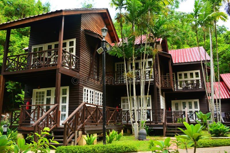 Cottages d'île de Manukan dans Sabah, Malaisie images stock