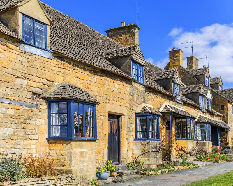 Cottages Broadway photographie stock