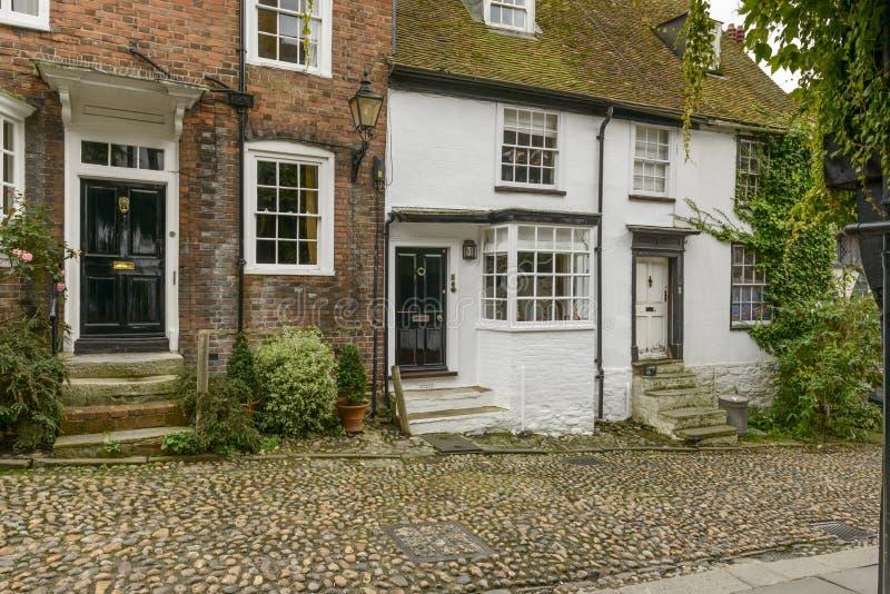 Cottages de brique, Rye photos libres de droits