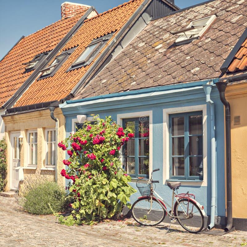 Cottages de Ystad images libres de droits
