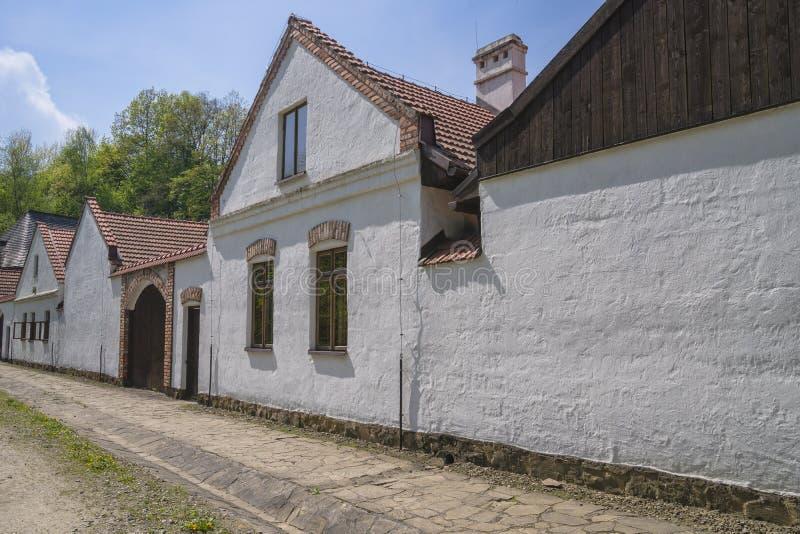 Cottages historiques de halètement image stock