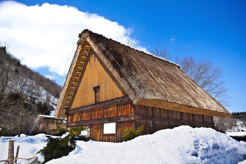 Download Cottages at Shirakawago stock image. Image of building - 24451367