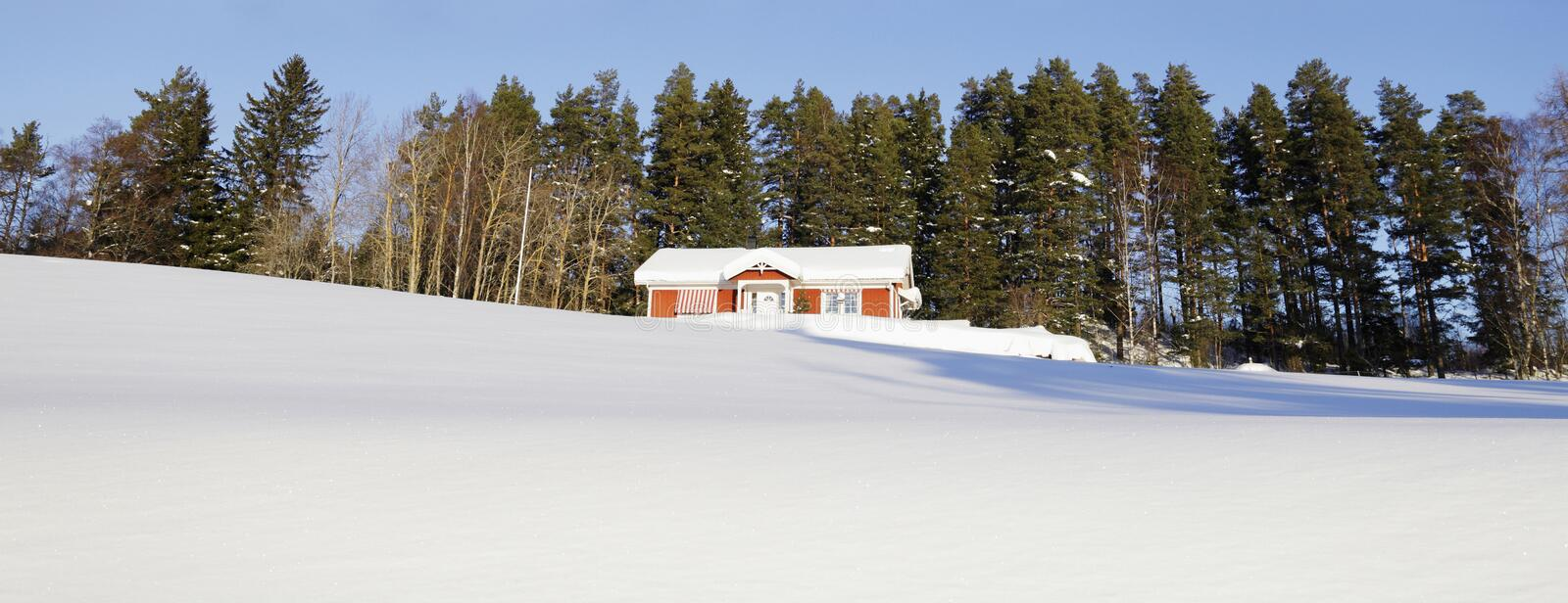 Cottages In Snowy Winter Season Stock Photography