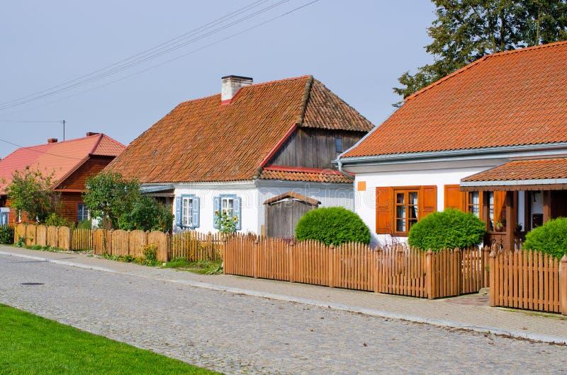 Cottages traditionnels Tykocin - en Pologne images libres de droits