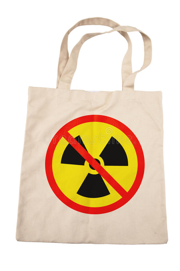 Download Cotton Bag For No Nuclear Stock Images - Image: 25612174