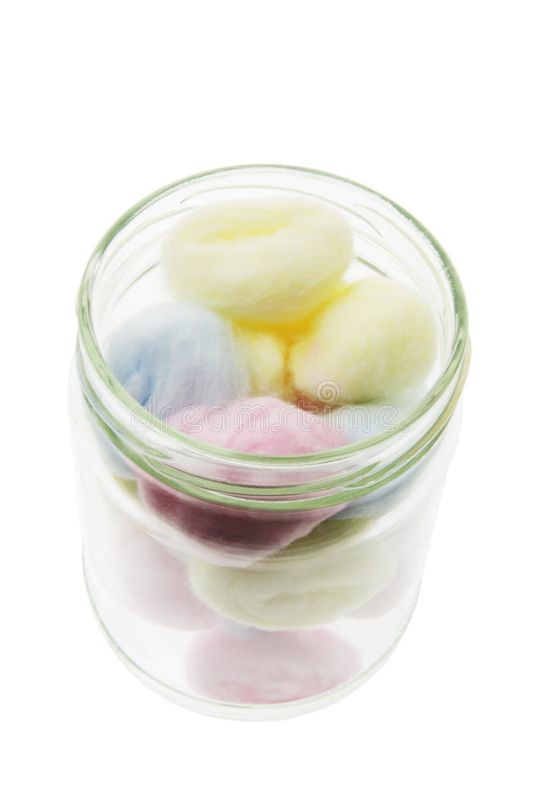 Download Cotton Balls in Glass Jar stock image. Image of hygiene - 9056263