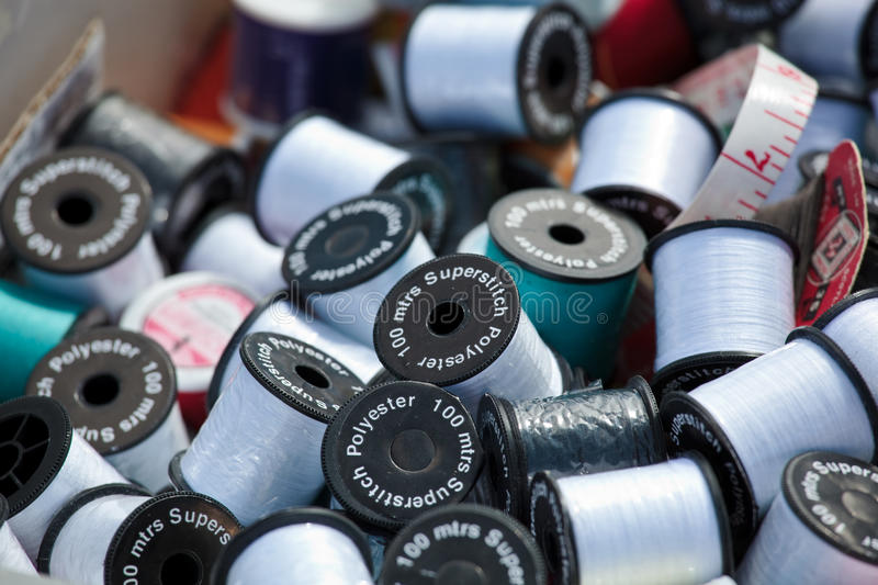 Download Cotton bobbins stock photo. Image of blue, group, multicolored - 10513750