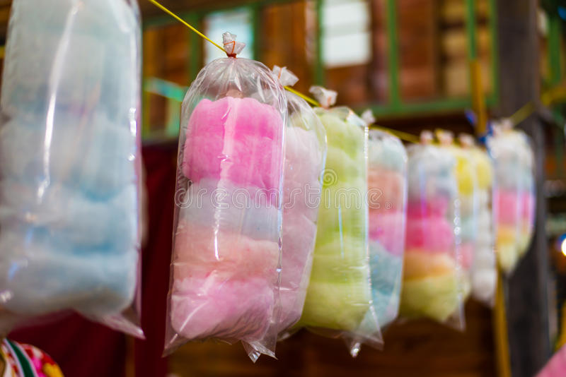 Cotton candy stock photography