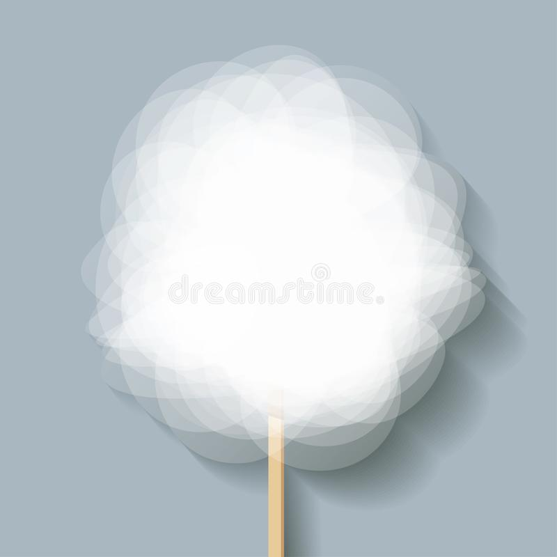 Cotton Candy floss white on a grey background. Vector Illustration. Cotton Candy floss white on a grey background. Vector Illustration vector illustration