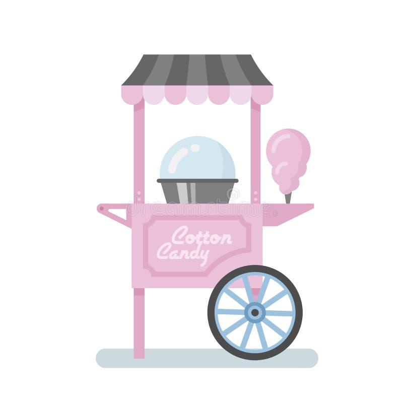 Free Cotton Candy Machine Flat Illustration Royalty Free Stock Image - 99146246