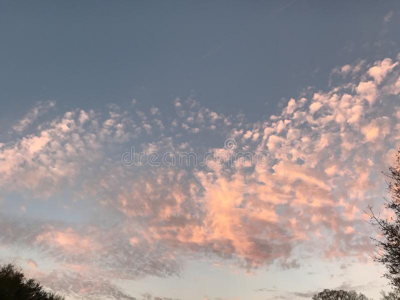Cotton Candy Pink Altocumulus Clouds Memes stock photos