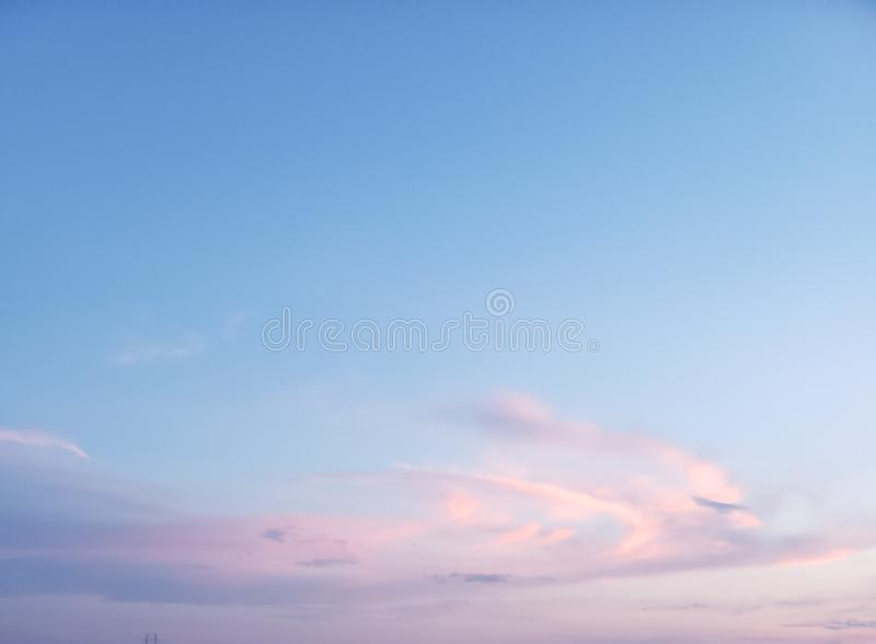 Cotton candy sky royalty free stock photography