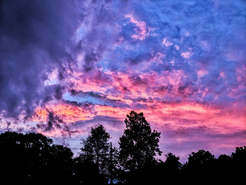 Cotton Candy Sky stock images
