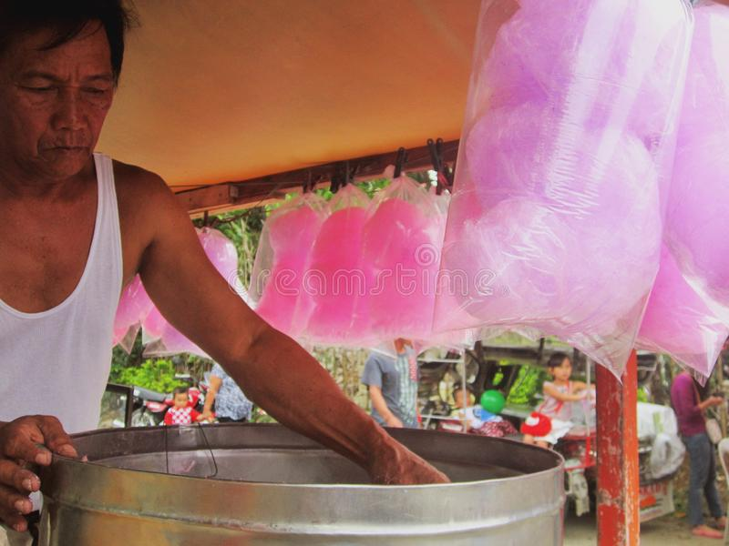 Cotton Candy Vendor stock images